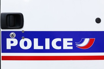 French police sign