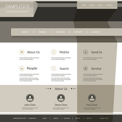 Website Template with Abstract Design