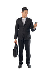Businessman with smartphone.