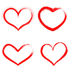 Set of hand drawn vector hearts. Happy Valentines Day. Love sign