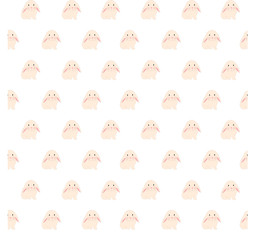 cute rabbit illustration, seamless pattern