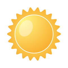 Yellow Sun burst icon isolated on a white background. Vector illustration