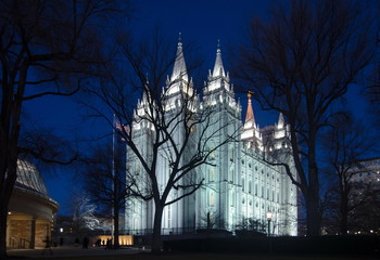 Salt Lake City Temple Square by night