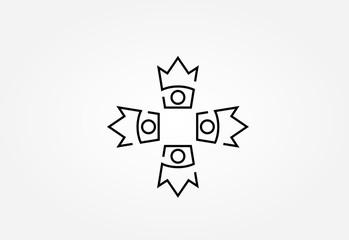 crown line icon logo