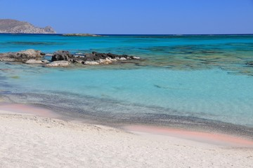 Crete pink beach - Elafonisi beach