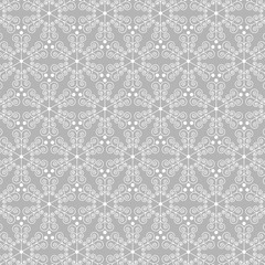 gray ornate snowflake background pattern