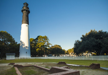 Lighthouse at Hunting Island State Park, South Carolina, Beaufor