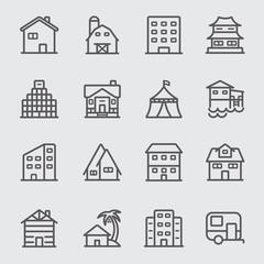 Accommodation line icon