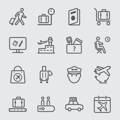Airport line icon 1