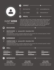 CV Resume Dark