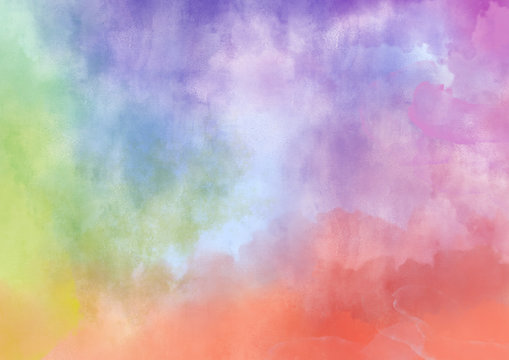Colorful watercolor hand painted abstract background for textures