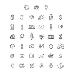Universal Doodle Icons For Mobile and Web