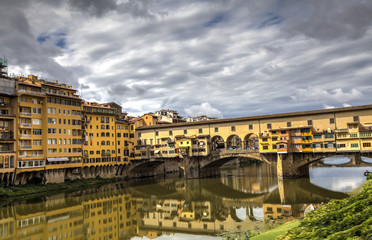 Spoed Fotobehang Praag Ponte Vecchio in Florence