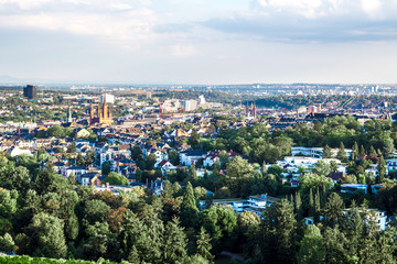 cityscape of Wiesbaden in Germany