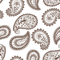 seamless pattern paisley Indian