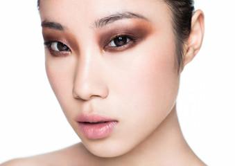 Beauty asian woman healthy cosmetic makeup portrait