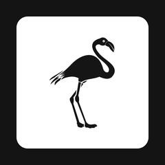 Flamingo icon in simple style isolated on white background. Bird symbol