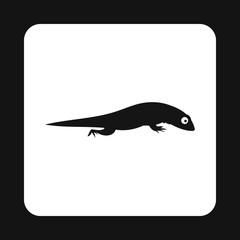 Large iguana icon in simple style isolated on white background. Reptiles symbol