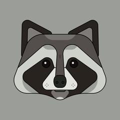 dog face head logo vector illustration