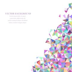 Colorful irregular triangle mosaic background