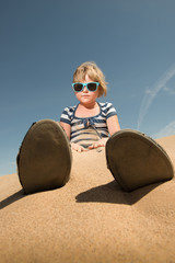 Girl at California's Imperial Sand Dunes