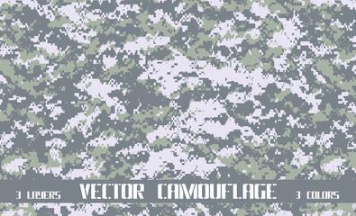 vector pixel camouflage background