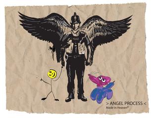 Bobby policeman - An hand drawn vector, comic style
