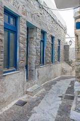 Street in Ermoupolis, Syros island, Cyclades, Greece