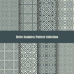 celtic knot ornament seamless patterns