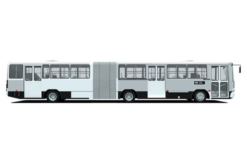 Autobús urbano blanco 3d aislado