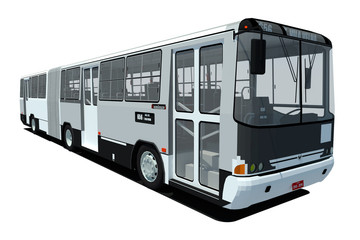 Autobús urbano 3d aislado