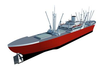 Barco 3d aislado petrolero industrial