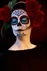 Woman in scary makeup