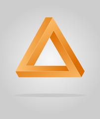 optical illusion triangle