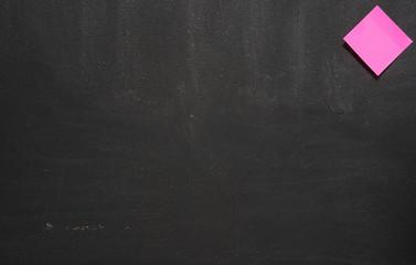 sticky note on a blackboard background