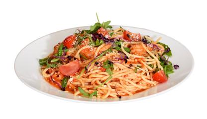 Pomodoro spagetti with shrimp