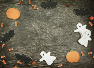 Halloween Cookies Background
