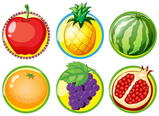 Logo design with fresh fruits