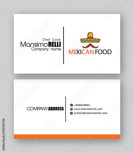 Quotmexican restaurant business card templatequot stock image for Mexican restaurant business cards