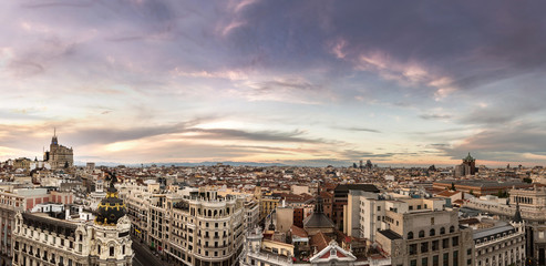 Wall Mural - Panoramical aerial view of Madrid