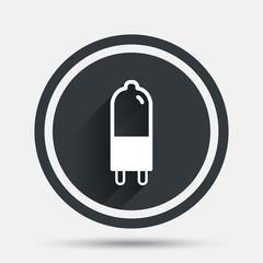 Light bulb icon. Lamp G9 socket symbol.