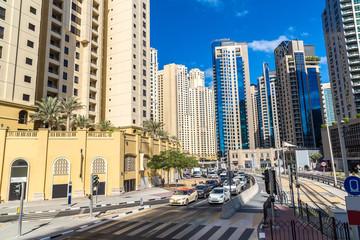Modern road in Dubai