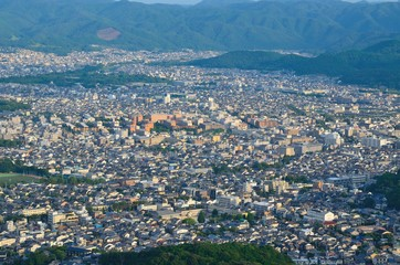 大文字山から京都市内風景