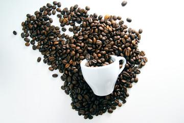 Art of coffee beans