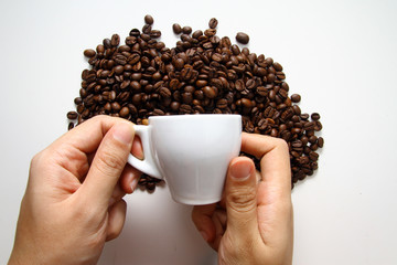 concept of coffee beans