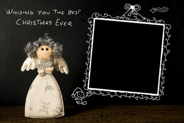 Funny Christmas photo frame card