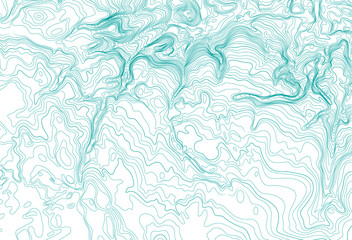 Abstract topographic map background concept, vector illustration