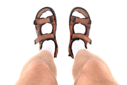 socks and sandals as czech tourist symbol