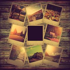 Instant polaroid photo