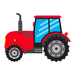 vector Tractor vehicle farm auto car icon isolated on white background